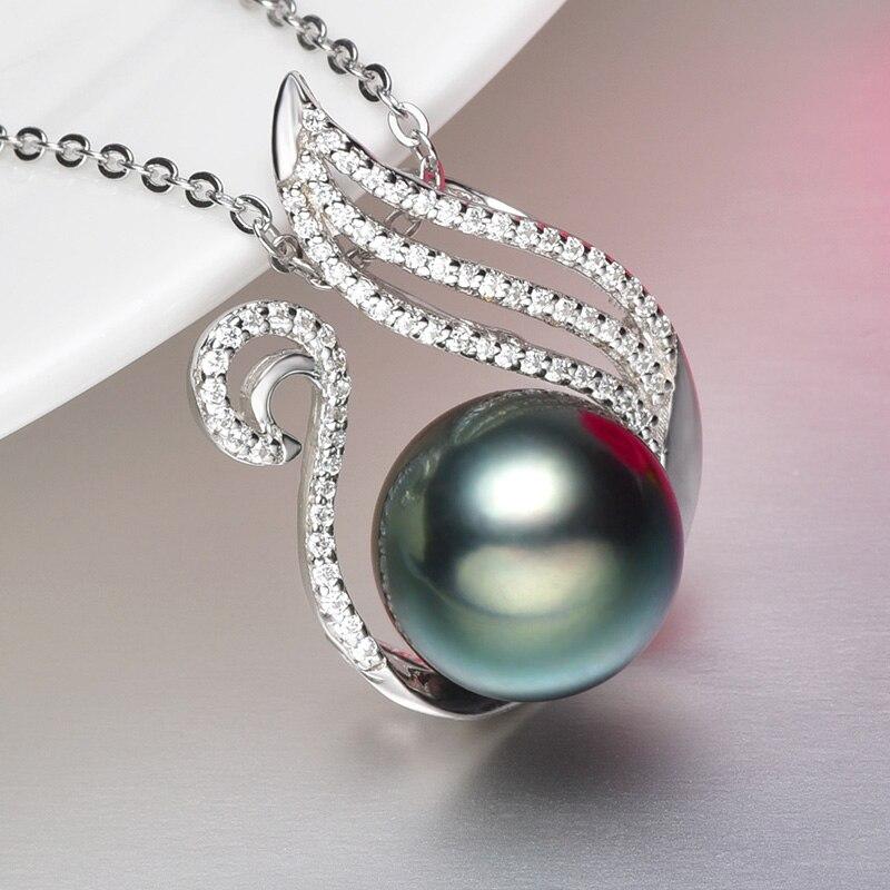 [YS] 10-11mm Searwater Tahitian Pearl Pendant 925 Sterling Silver Pearl Pendant Mounting