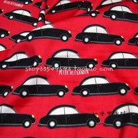 140X100 cm Nero Retro Car Cotone Rasatello Tessuto per il Bambino Vestiti Del Ragazzo Degli Indumenti Da Cucire DIY-AFCK752