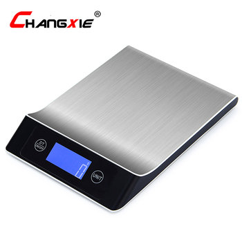 5kg/1g 10kg/1g 15kg/1g Digital Scale Cooking Measure Tool Stainless Steel Electronic Weight Scale LCD Display Kitchen Scale 10000g x 1g digital mini food diet kitchen scale balance weight scale led electronic cooking scale measure tools