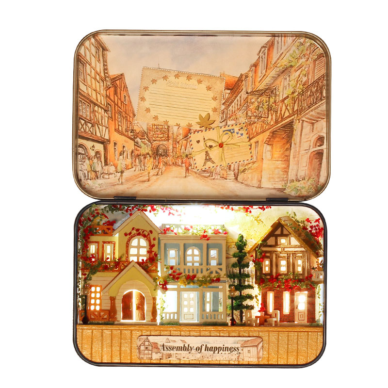 Miniatur Rumah Boneka DIY Kotak Kayu Dollhouse Theatre 3D Rumah - Boneka dan mainan lunak - Foto 6