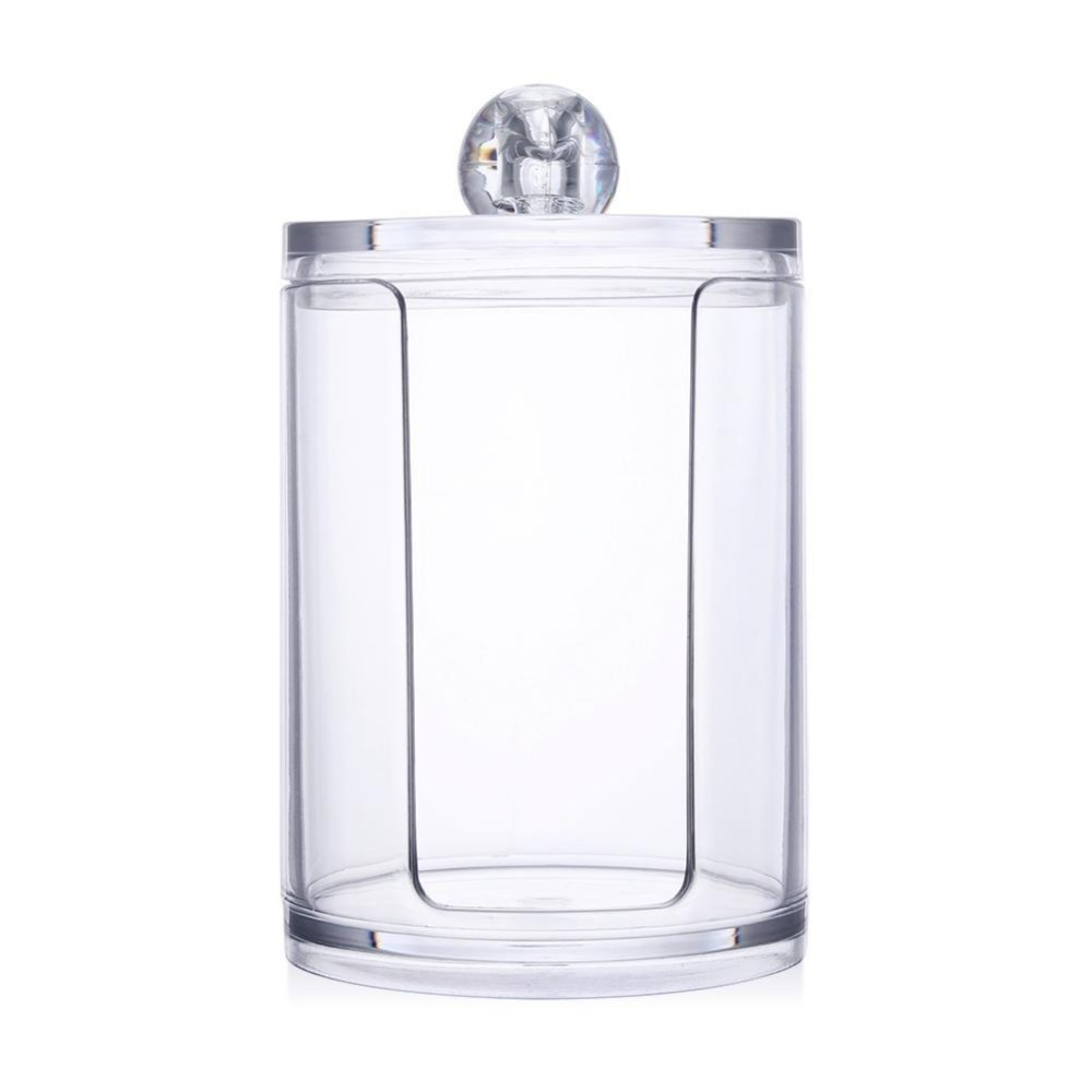 Jars Container Storage-Box-Holder Cosmetic-Organizer Jewelry Makeup Cotton-Pad Acrylic