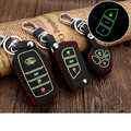 Real Leather Car Key Cover Luminous Key Case for Toyota Corolla Avensis RAV4 Auris Chave Camry Yaris 2014 Hilux 2007 Car-styling