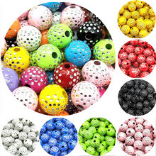 100pcs/lot 8mm Cheap New Fashion Beads Arrival Round Acrylic Beads Rhinestones Charms Bead For Necklace Bracelet DIY Accessories(China)