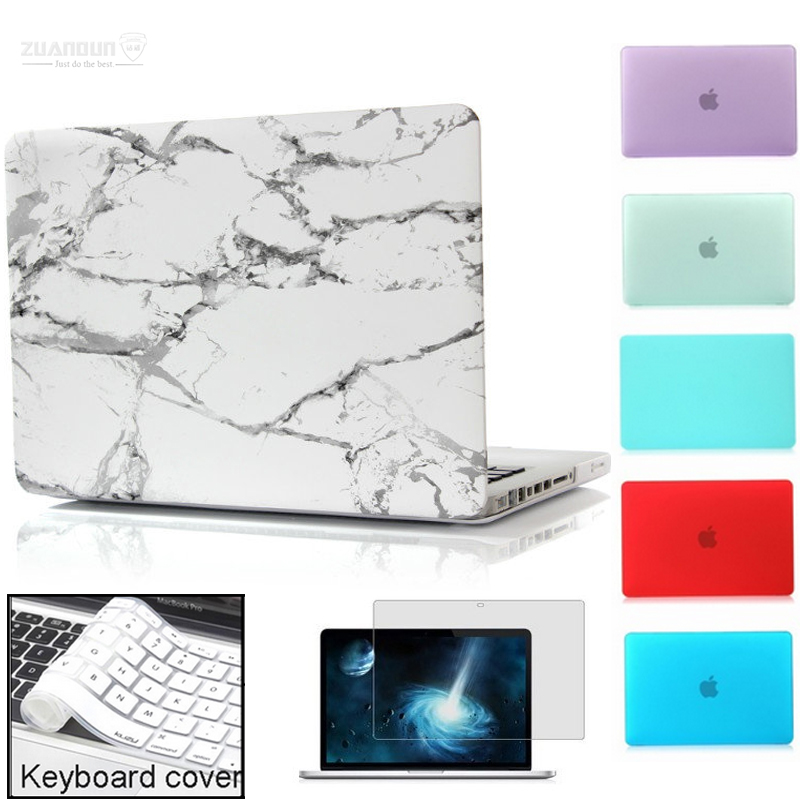 Laptop Case For Apple Macbook Air Pro Retina 11 12 13 15 Marble Texture Laptop Sleeve Bag Cover For Macbook Air 13 Case Keyboard