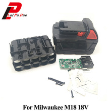 M18B литий-ионный Батарея Пластик Дело зарядки защиты плате для Милуоки 18 V M18 48-11-1815 3Ah 4Ah 5Ah печатной платы Shell