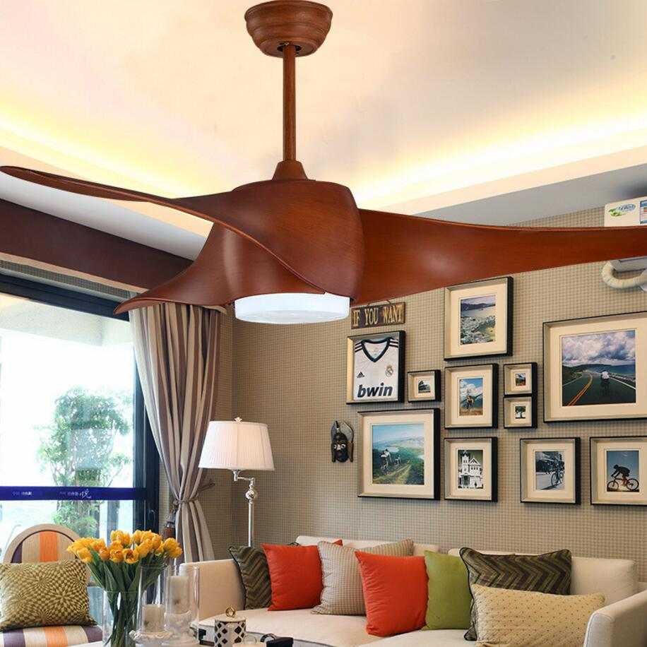 LED Ceiling Fan With Lights Remote Control 220 Volt Bedroom Ceiling Light Fan Lamp LED Bulbs free shipping