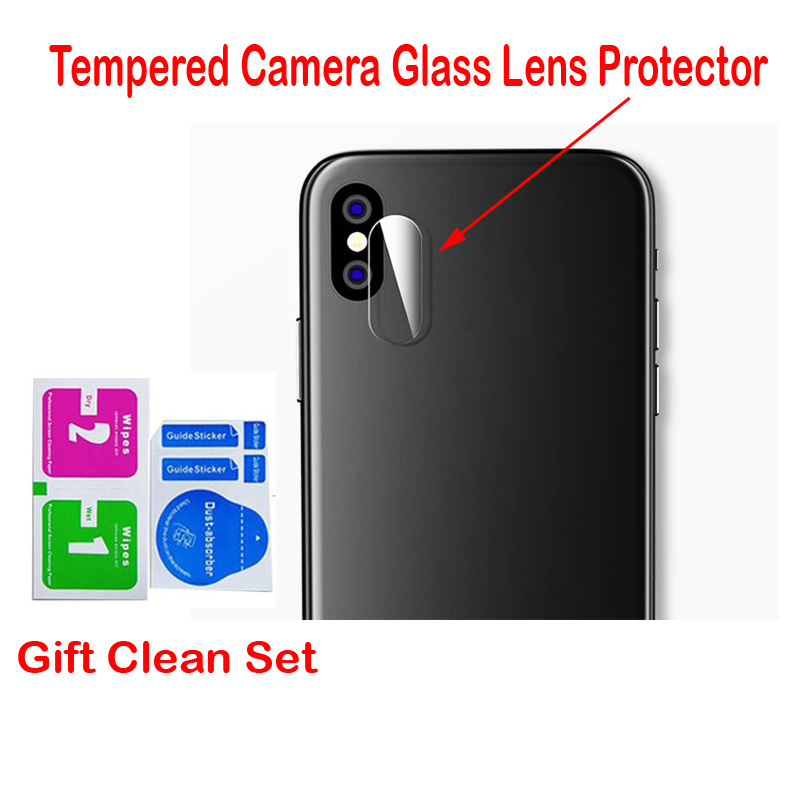 Tempered Glass For iPhone X 8 7 6 Plus Back Camera Lens Transparent Tempered Glass Protector Protective Film High Quality