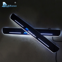 High Quality Acrylic RDESIGN LED Welcome Scuff Plate Pedal R DESIGN Door Sill Plate For Volvo