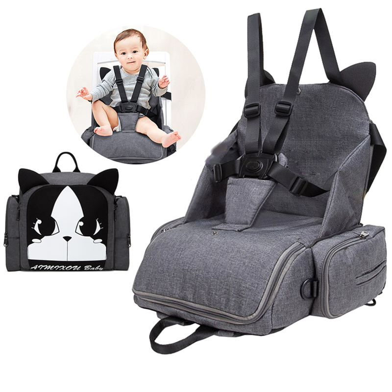 Baby Safety Seat Portable Baby Dining Chair Child Feeding Chair Harness Booster Seat Multifunction Mom Bag Diaper Backpack Seat