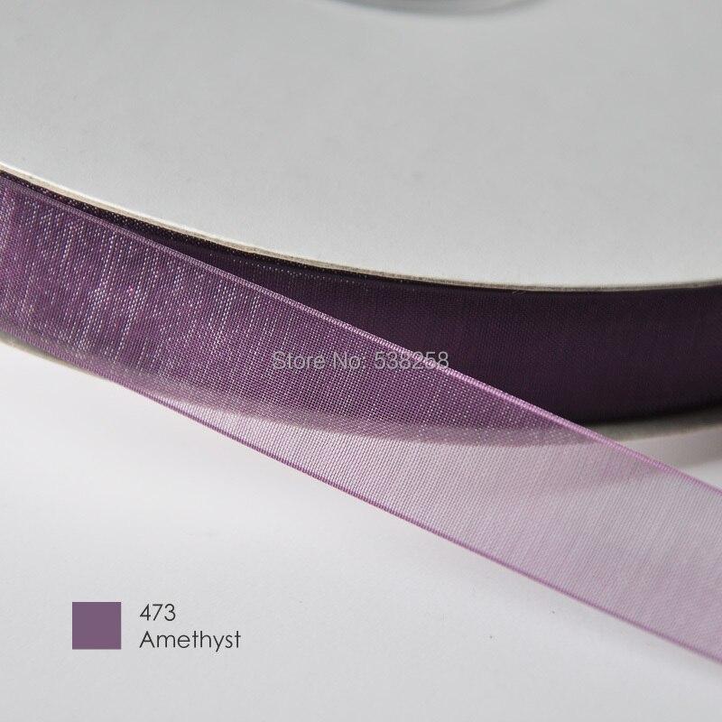 Бесплатная доставка высокого качества 7/8 «22 мм 84 цвета органзы ленты упаковки подарка Свадебные украшения DIY клип материал