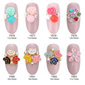10pcs mixed Rose flowers nails art dekor beads glitter nails ongles decoration nailart jewelry accessories Y676~683