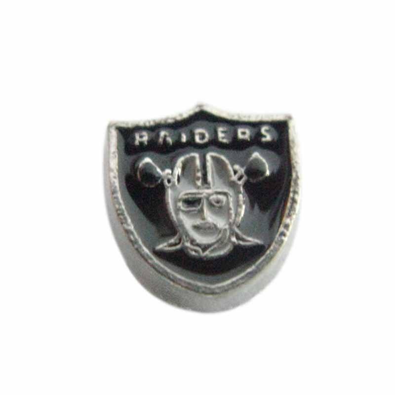 984f7a7bd0 20 Pcs Esmalte Encantos Da Equipa de Futebol Americano Oakland Raiders  Encantos Medalhão Medalhão Para Vidro Viver Medalhão Memória