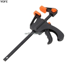 4 Inch Wood-Working Bar Clamp Quick Ratchet Release Speed Squeeze DIY Hand Tools