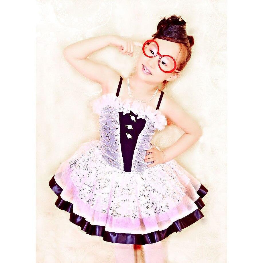 2018 Time limited Ballet Dress For Children Ballet Costume Princess Dress Paillette Layered Skirt Dance Performance Wear 8027