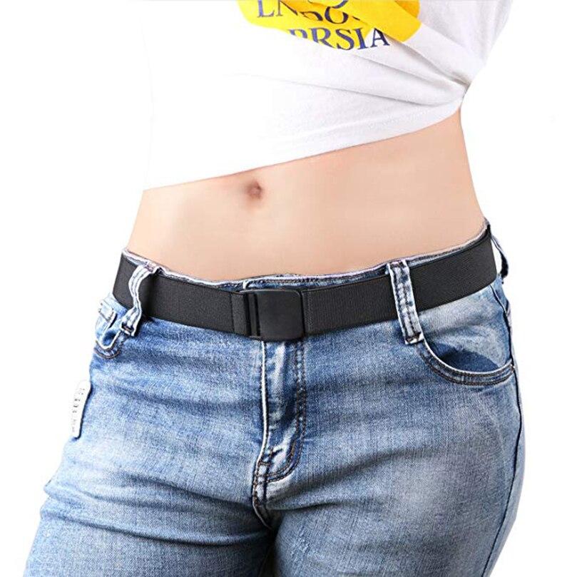 AWAYTR New Unisex Belt For Men Women Invisible Belt No Show Buckle Elastic Adjustable Waistband Canvas Elastic Waistband