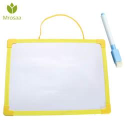 Новые mrosaa доски сухой салфеткой доска мини доски для рисования Малый висячая доска с маркером для Childern исследование подарки