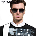 Parzin Polarized Sunglasses Men Rectangle Metal Male Sun Glasses Fishing Driving Glasses Summer Shades Gold With Case  8100