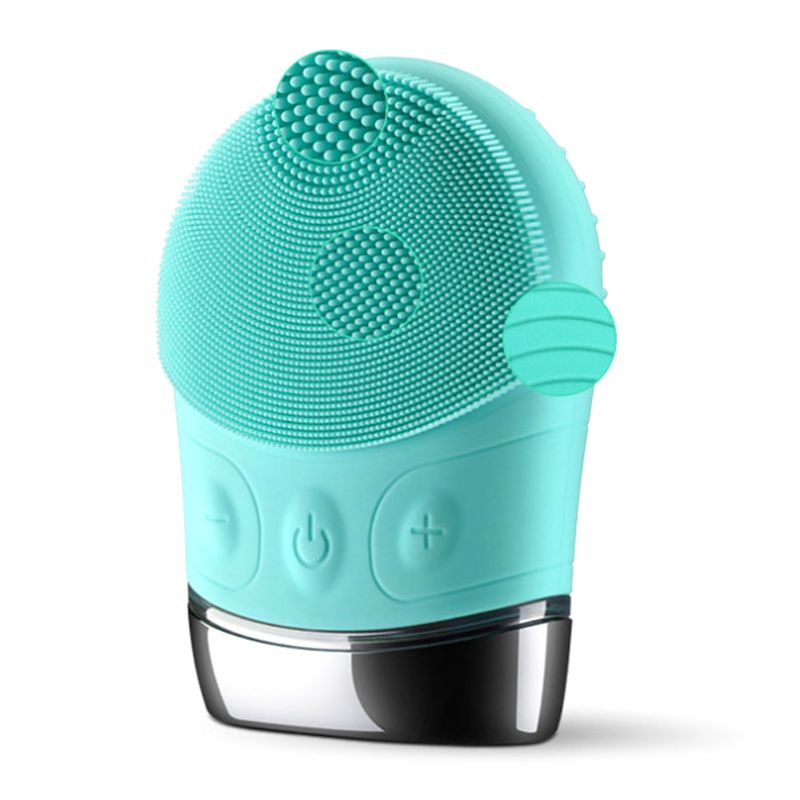 SURKER Electric Face Cleanser Vibrate Pore Clean Silicone Cleansing Brush Massager Facial