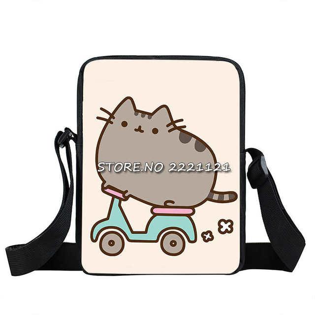 Cute Cartoon Pusheen Cat Mini Messenger Bag Cartoon Children - Cartoon handbags