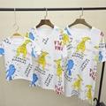 Свободного покроя семьи соответствующие наряды мать и дочь тис отец и сын футболки мама и детская одежда семья одежда