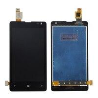 Orijinal Microsoft Nokia Lumia 435 Için lcd ekran ile dokunmatik ekranlı sayısallaştırıcı grup Ücretsiz kargo
