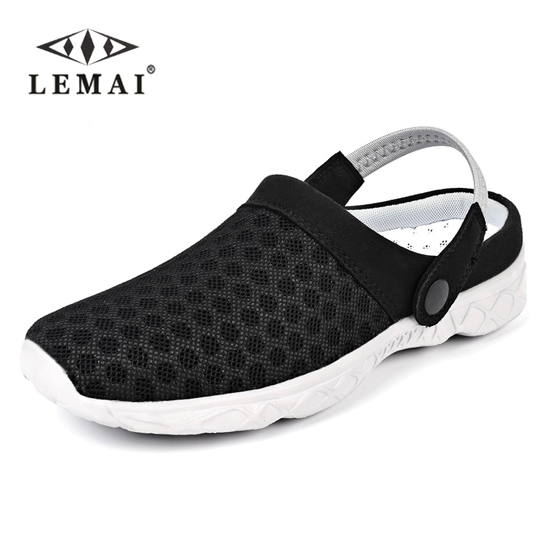 Mens Summer Shoes Sandals 2017 New Breathable Men Slippers Mesh Lighted Casual Shoes Slip On Shoes Beach Flip Flops Buy Now Men's Casual Shoes Men's Shoes