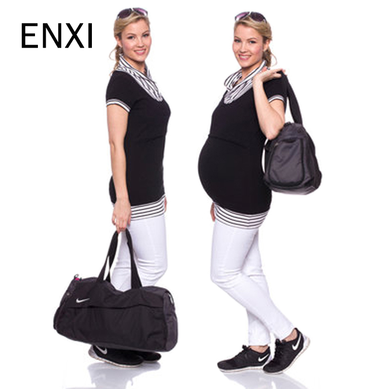 Maternity Clothes 2018 Stripes Stitching Mother Sucking Solid Color Short-sleeved Nursing Maternity T Shirt