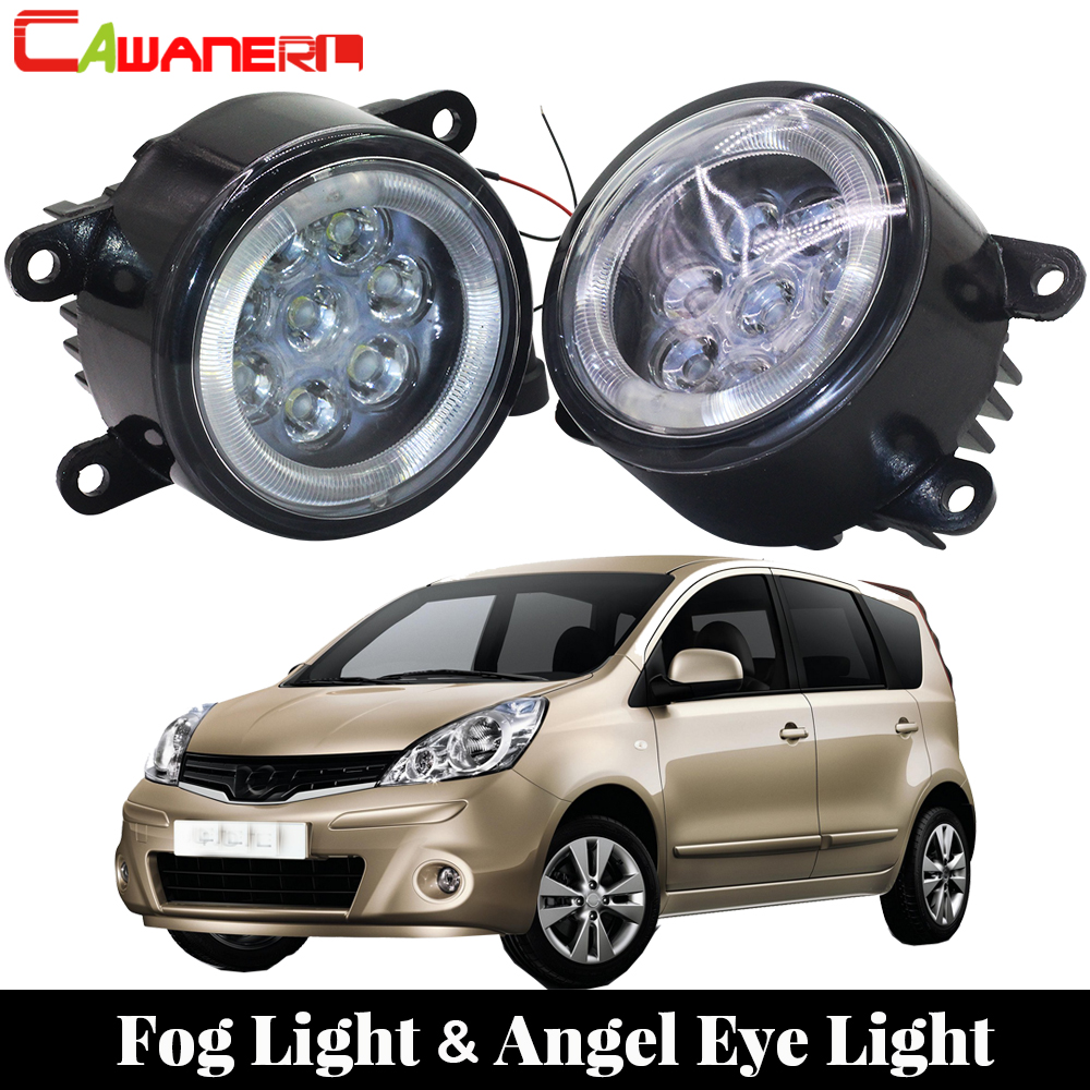 Cawanerl For 2006-2013 Nissan Note E11 MPV Car LED Bulb Fog Light Angel Eye DRL Daytime Running Light 12V Styling 2 Pieces cawanerl for 2006 2014 suzuki sx4 ey gy car styling led fog light lamp angel eye daytime running light drl 12v 2 pieces