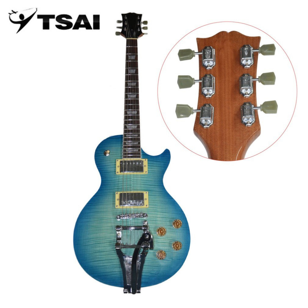 tsai shipping from usa electric guitar mahogany body rose wood neck maple fingerboard guitar. Black Bedroom Furniture Sets. Home Design Ideas
