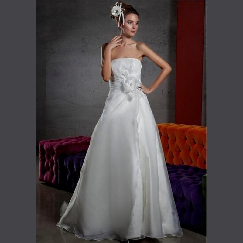 Fashionable Wedding Gowns 2017 : Online get cheap strapless beach wedding gowns aliexpress.com