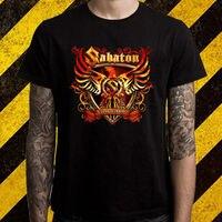 LEQEMAO New SABATON Metal Rock Band Logo Men S Black T Shirt Size S To 2XL