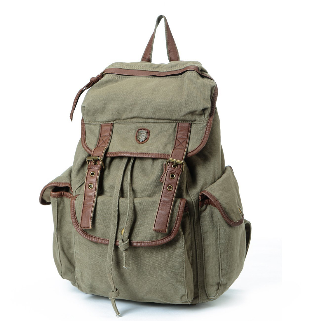 Army Green Multi-function Unisex Canvas Backpack
