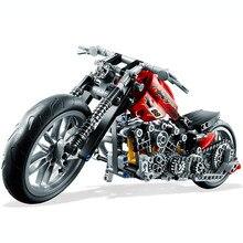ГОРЯЧАЯ 378 Шт. Technic Мотоциклетная Exploiture Модель Harley Автомобиля Строительного Кирпича Блок Набор Игрушка Подарок Совместимость С Legoe