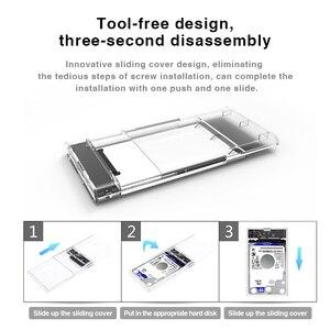 """Image 5 - صندوق الأقراص الصلبة المحمولة 2.5 """"SATA إلى USB 3.0 محول شفاف القرص الصلب الضميمة لحقيبة الأقراص الصلبة القرص الصلب SSD الخارجية"""