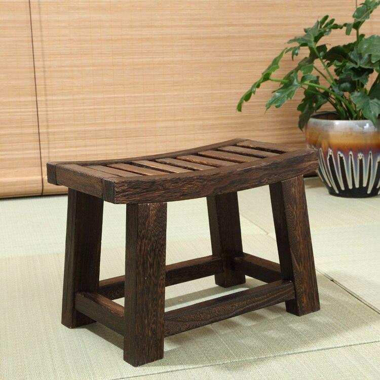Giapponese antico sgabello panca di legno legno di for Paulownia legno mobili
