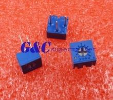 50Pcs 3362P-502 3362 P 5K ohm High Precision Variable Resistor Potentiometer
