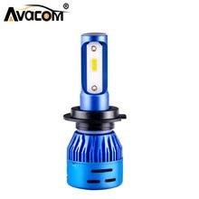 1 Pcs LED Mini Motorcycle Headlight 12V 6500K 5000Lm DOB Chip 36W H4 HS1 LED font