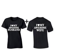 Sevgililer Günü Hediye Eşleşen Kendime Başar Karı koca Çift Tee Gömlek Iyi Severler Mr Mrs Yaz Pamuk Üst bir Set 2 adet