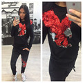 New Casual Fashion Eagle Printed 2 Piece Set Womens Tracksuit Ladies Striped Women's Sets Long Sleeve O-neck Hoodies+Long Pants