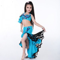 New Arrival Belly Dance Outfits 2 Pieces(Bra+Skirt) Egyptian Belly Dance Costume Children/Kids/Girls bellydance Costume