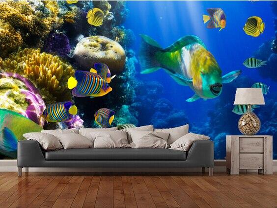 Desenhos animados papel de parede 3d paisagem murais para for Papel pared personalizado foto