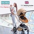 Gratis Verzending Hotmom Kinderwagen Mode en Hoge Landschap Kinderwagen Luxe kinderwagen