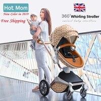 Miễn phí Vận Chuyển Hotmom Xe Đẩy Em Bé Thời Trang và Cảnh Quan Cao Xe Đẩy Em bé Sang Trọng vận chuyển
