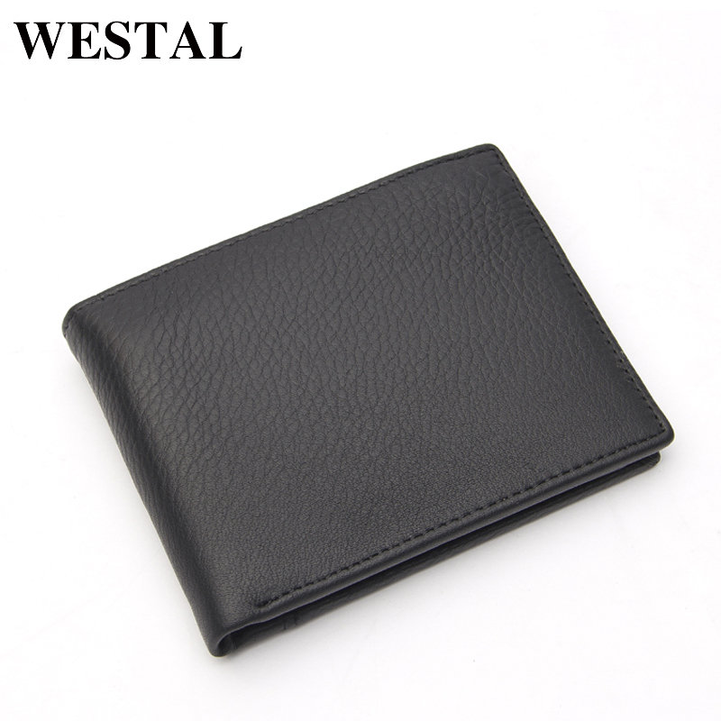 WESTAL Men Wallets Leather Genuine Leather Coin Pocket Purse Card Holder Slim Vintage Short Wallet Men Cards Purse 8054 westal genuine leather men wallets leather man short wallet vintage man purse male wallet men s small wallets card holder 8866