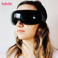 Smart Eye Massager Anti Falten Augen Massage für müde augen Luft Kompression erhitzt Brille augenringe entfernen mit reise fall