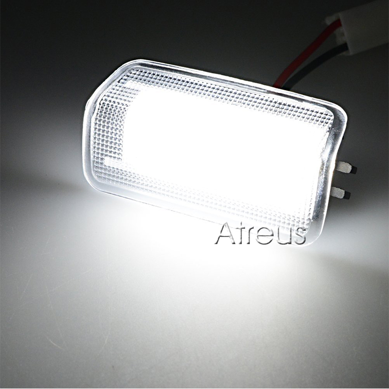 CNparts Auto Car Door Welcome Lights For Lexus IS250 RX350 LS430 LS460  Toyota Camry Crown Prius White SMD LED Lamp Accessories