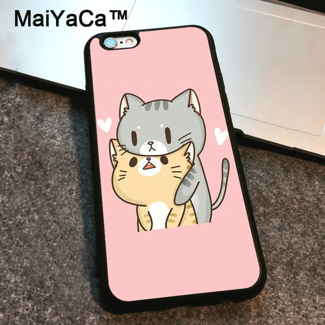 separation shoes e129d 190da US $4.32 5% OFF|MaiYaCa neko kawaii Cat Case For iphone 6 6s plus Cover  Rubber Shockproof Back Case For iphone 6 Plus shell-in Fitted Cases from ...