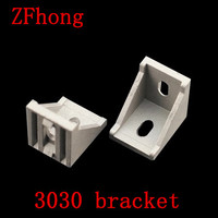 20pcs 3030 Corner Angle Bracket Joint Aluminum Profile Extrusion CNC DIY