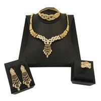Nigerian Popular Bridal Jewelry Set African Jewelry Necklace Earrings Bracelet Set Nigerian Jewelry Set for Women