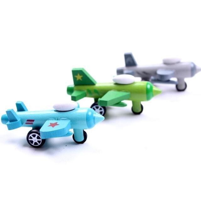 12 model model punuar me dorë prej druri Plane Druri lodra të vogla - Makina lodër për fëmije - Foto 3